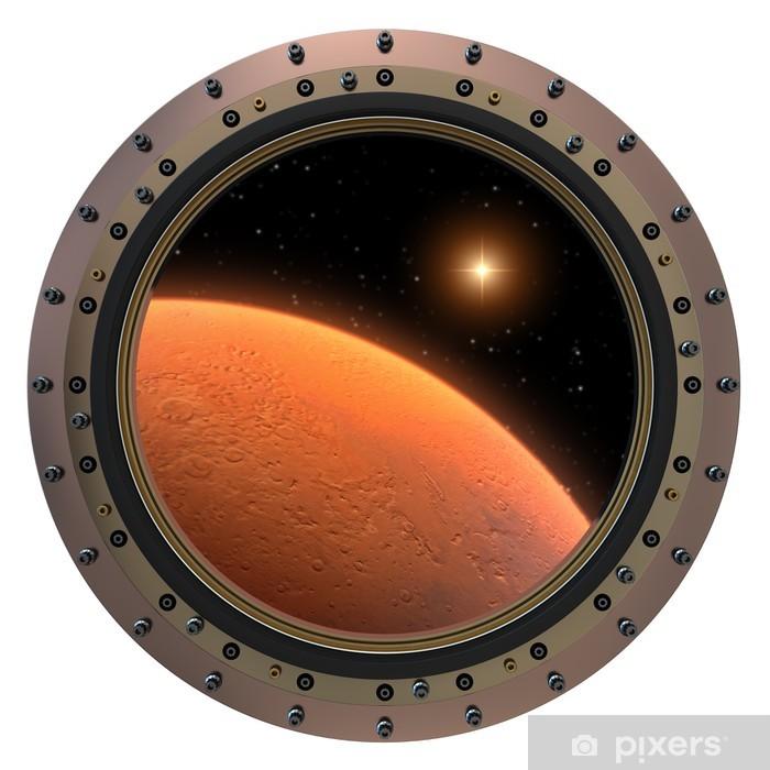 Sticker Pixerstick Mars Spacecraft Hublot. - Espace
