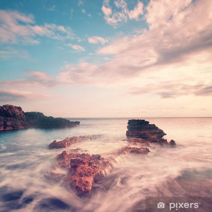Fotomural Autoadhesivo Paisaje marino de la vendimia -