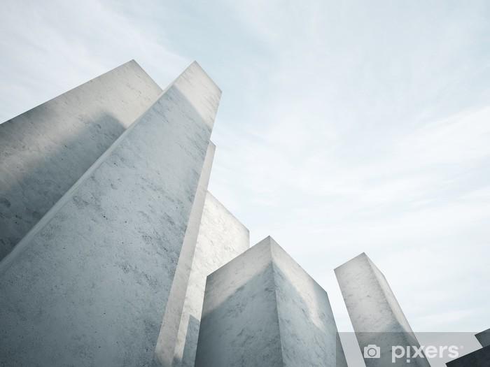Naklejka Pixerstick Streszczenie architektura beton - Inne