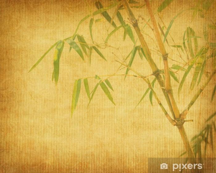 Nálepka Pixerstick Bambus na staré grunge textury papírové pozadí - Struktury