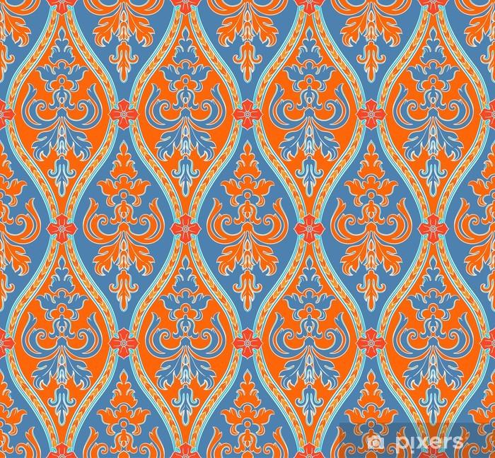 Papier Peint Bleu Et Orange Seamless Pixers Nous Vivons Pour