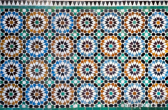 Sticker Pixerstick Marocaine vintage background de carreaux - Pays