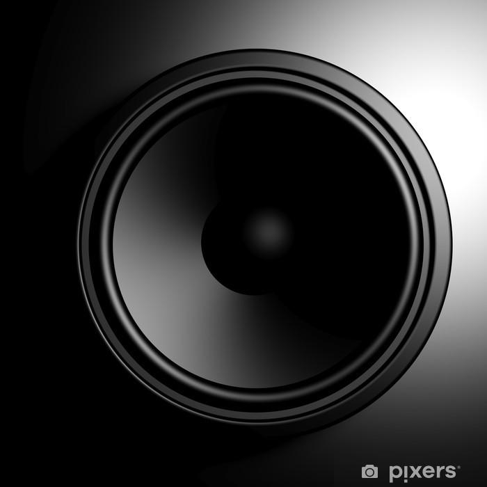 Sticker Pixerstick Haut-parleur noir fond - Musique