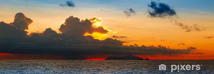 Sticker Pixerstick Sunset over the sea - Afrique