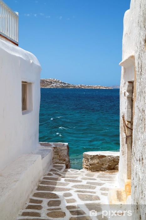 fototapete traditionelles griechisches haus auf der insel. Black Bedroom Furniture Sets. Home Design Ideas