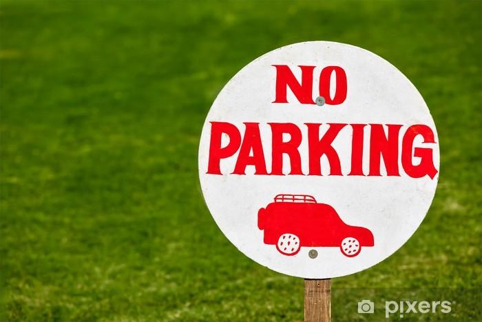 Carta da Parati in Vinile Nessun segno di parcheggio - Segni e Simboli