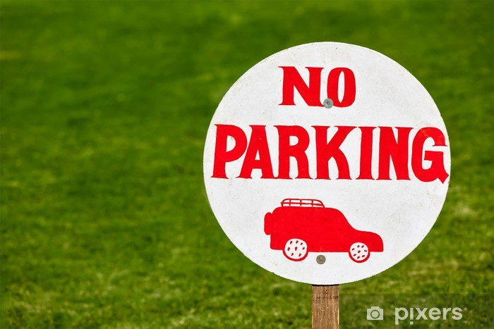 No parking sign Pixerstick Sticker - Signs and Symbols