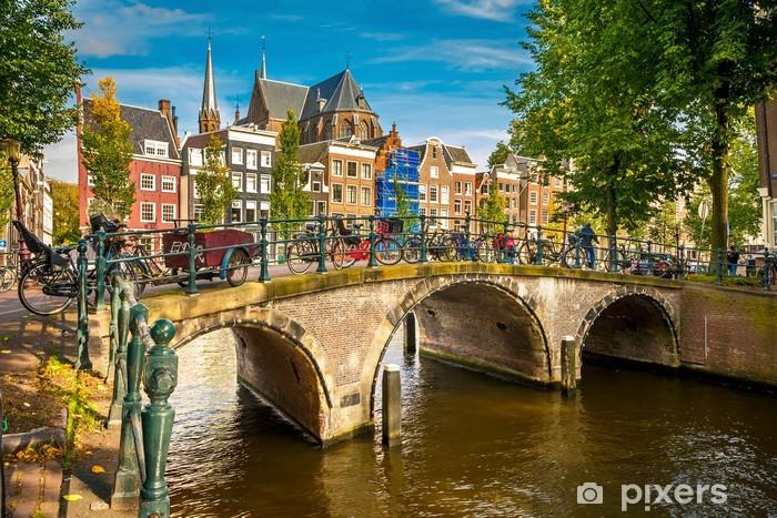 Vinilo Pixerstick Amsterdam paisaje urbano - Temas