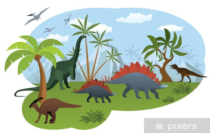 Fototapeta winylowa Świat dinozaurów - Naklejki na ścianę
