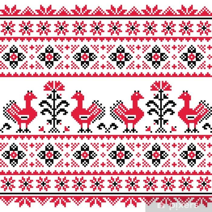Papier Peint Folklorique Slave Ukrainien Tricot Motif De Emboidery