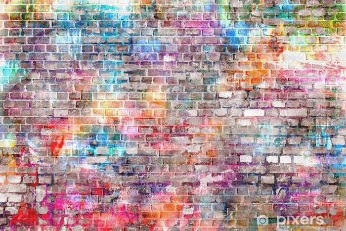Fotomural Estándar Arte colorido grunge ilustración de la pared, de fondo -