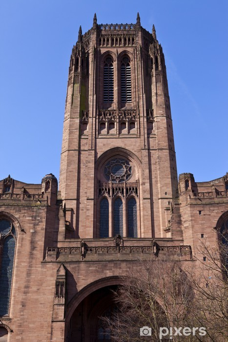 Naklejka Pixerstick Liverpool Anglican Cathedral - Europa