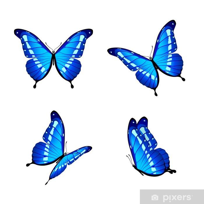 b8bb43e7142 Blå sommerfugle Fototapet • Pixers® - Vi lever for forandringer
