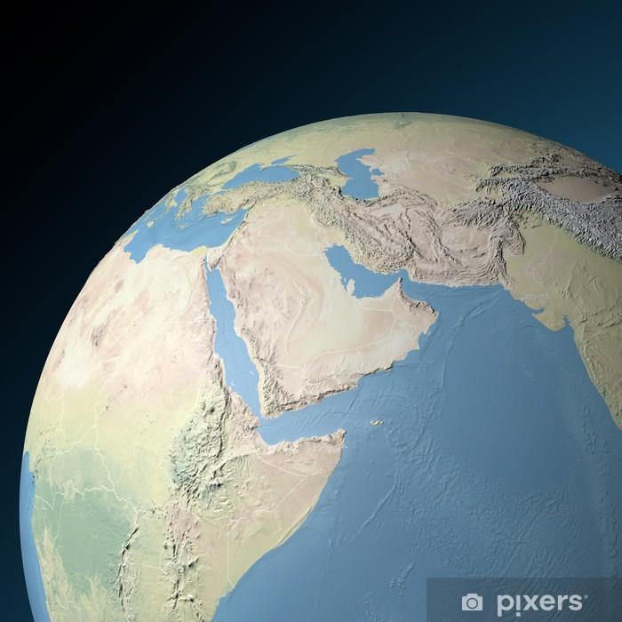 Medio Oriente Cartina Fisica.Cartina Fisica Medio Oriente In Rilievo Wall Mural Pixers We Live To Change