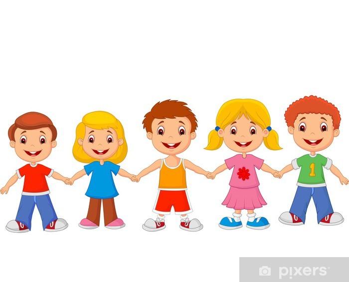 Carta Da Parati I Bambini Piccoli Si Tengono Per Mano Pixers