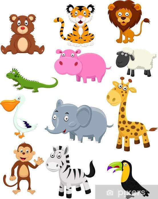 Vinilo Pixerstick Animales salvajes conjunto de la colección de ...