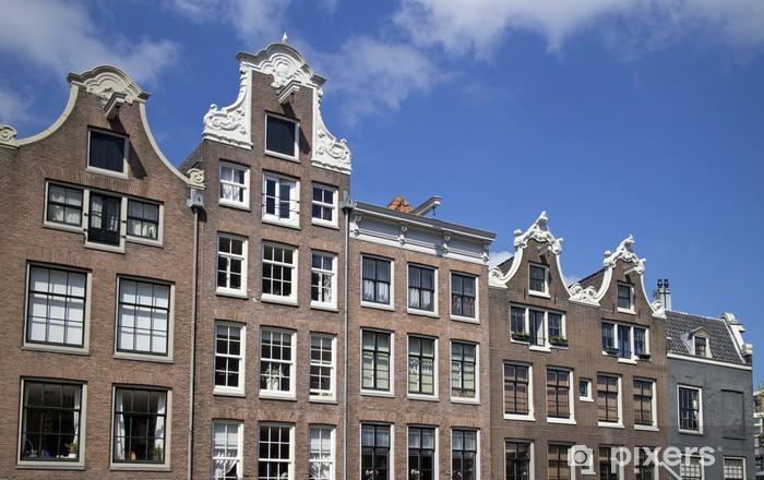 Amsterdam arkkitehtuuri Vinyyli valokuvatapetti - Euroopan Kaupunkeja