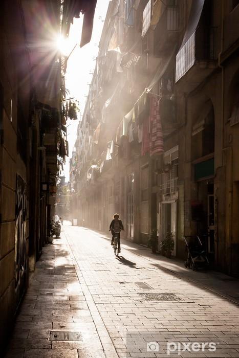 Vinyl Fotobehang Old Town, Barcelona, Spanje - Thema's