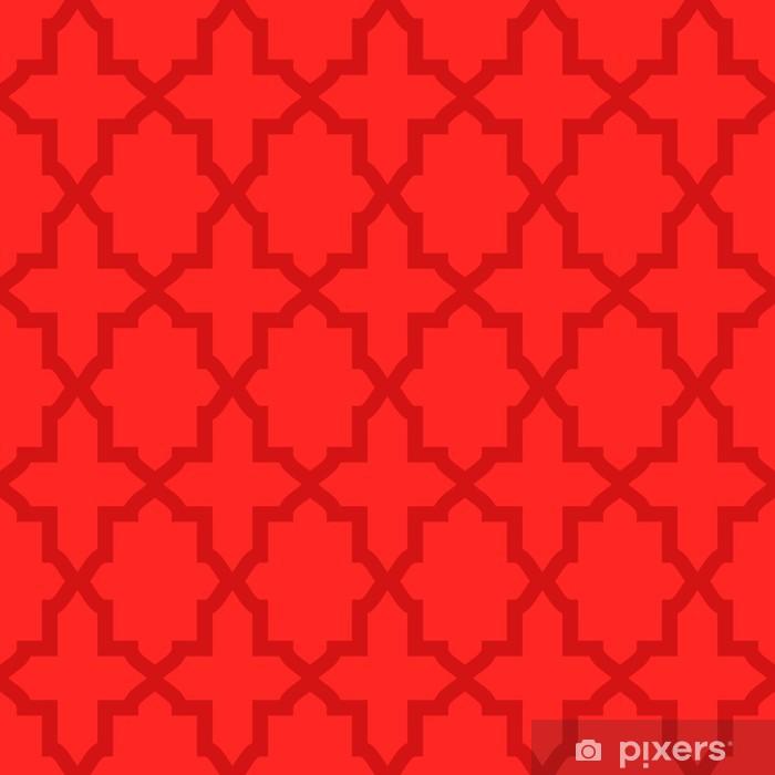 Carta Da Parati Semplice Arabesco Modello Astratto Colore Rosso