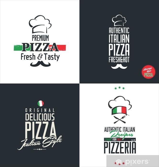 Papier peint vinyle Pizza étiquettes - Arrière plans