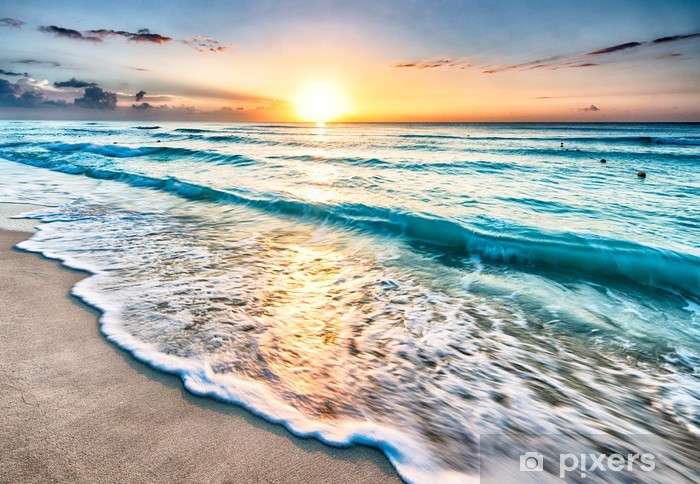 Sunrise over Cancun beach Vinyl Wall Mural - Beach and tropics