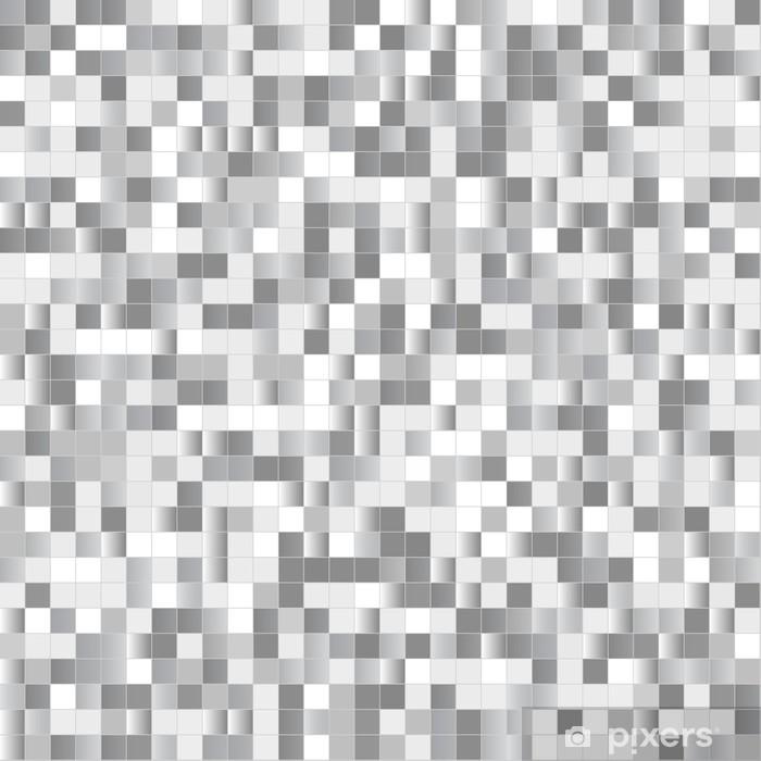 Poster Nahtloser Hintergrund mit glänzenden Pixel - Hintergründe