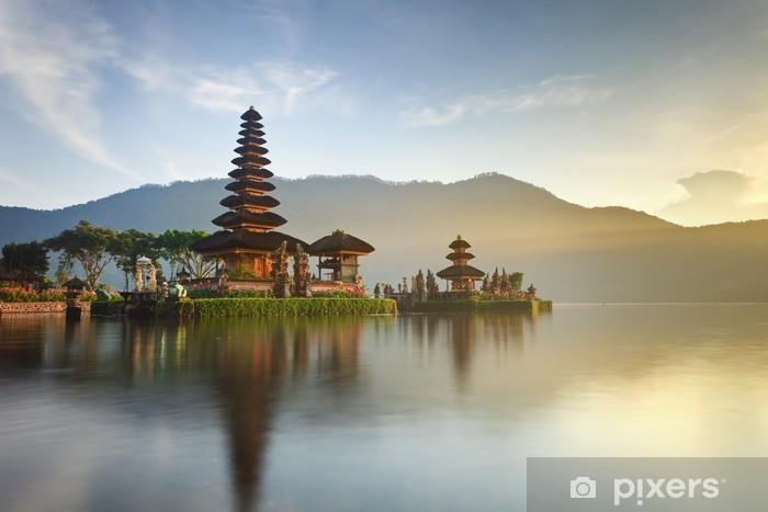 Ulun Danu temple on Bratan lake, Bali, Indonesia Vinyl Wall Mural - Lakes