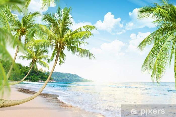 Fototapeta winylowa Plaża z palmami - Tematy
