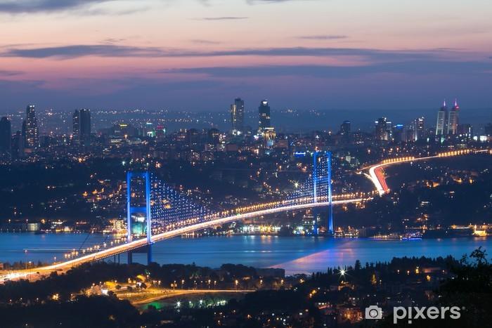 Vinyl Fotobehang Istanbul in de nacht - Midden Oosten