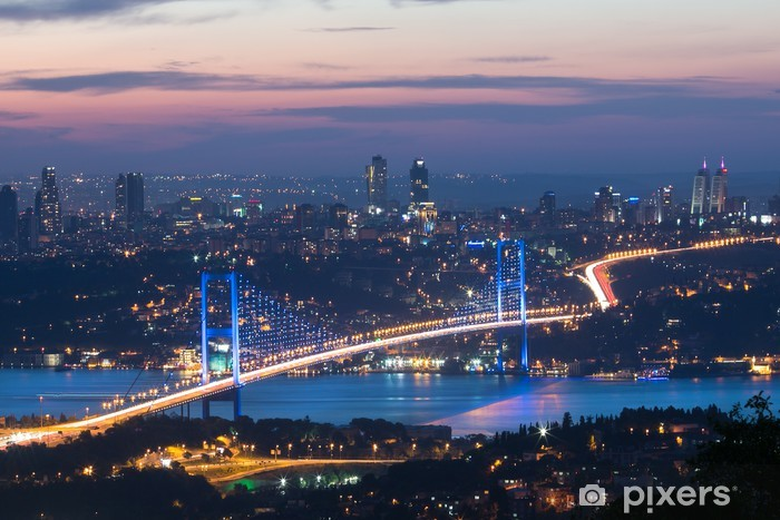 istanbul in night Pixerstick Sticker - The Middle East
