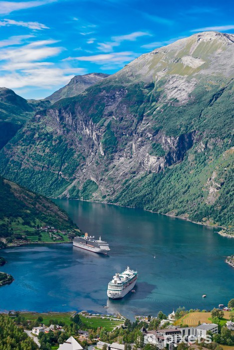 Papier peint vinyle Norvège, fjord de Geiranger - Thèmes