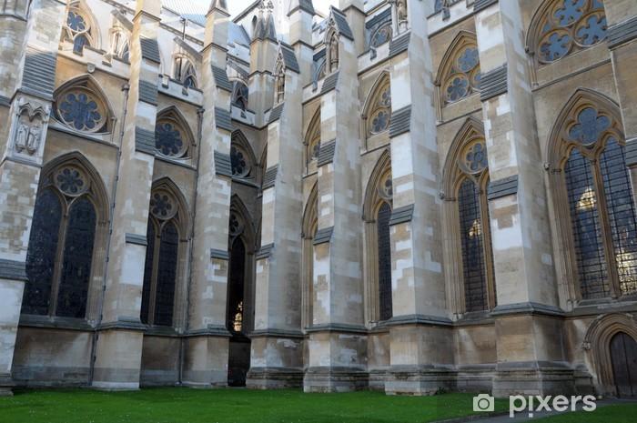 Naklejka Pixerstick Przypory Westminster Abbey, London - Miasta europejskie