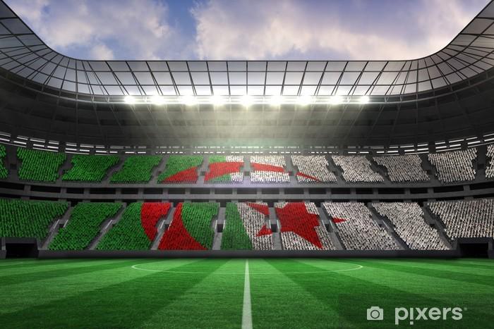 Papier peint vinyle Image composite de drapeau algérien - Matchs et compétition