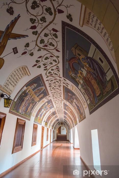 Sticker Pixerstick Plafond voûte décorée au monastère de Kykkos - Europe