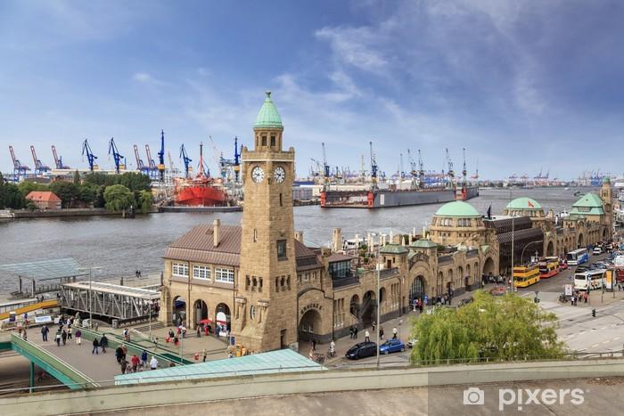 Harbour of Hamburg, Germany Vinyl Wall Mural - Germany