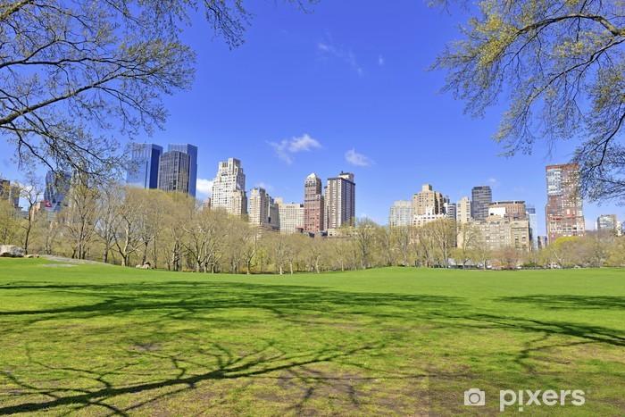 Vinyl-Fototapete Skyline von Manhattan von Central Park, New York City - Amerikanische Städte