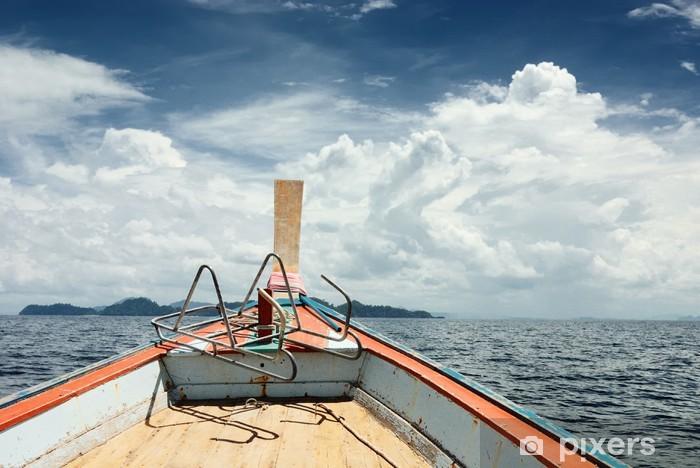 Pixerstick Aufkleber Travel Boot auf Meerszene - Wasser