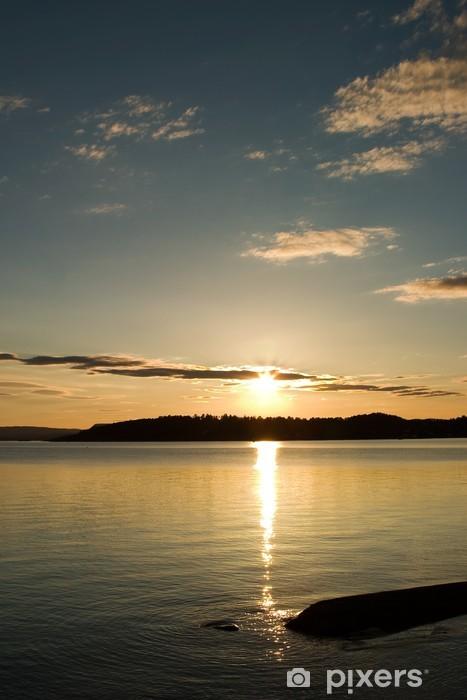 Fototapete Sonnenuntergang in Norwegen