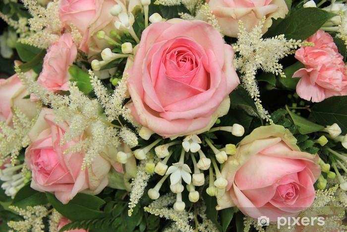 Bouquet Sposa Gelsomino.Carta Da Parati In Vinile Rose Rosa E Gelsomino Del Madagascar In Bouquet Da Sposa