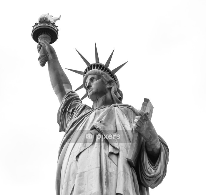 Statue of Liberty in Black and White Wall Decal - Wall decals