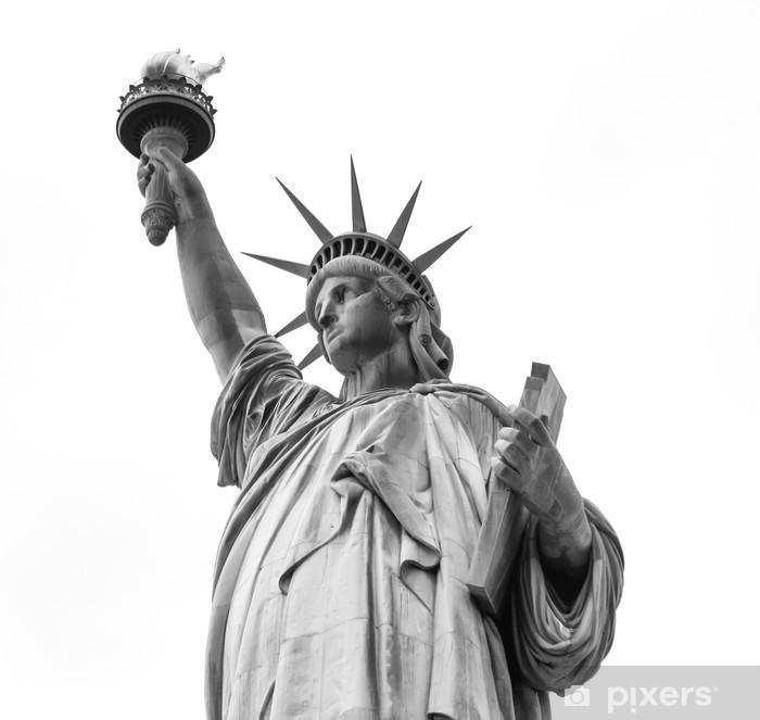 Fototapeta winylowa Statua Wolności w czerni i bieli - Naklejki na ścianę