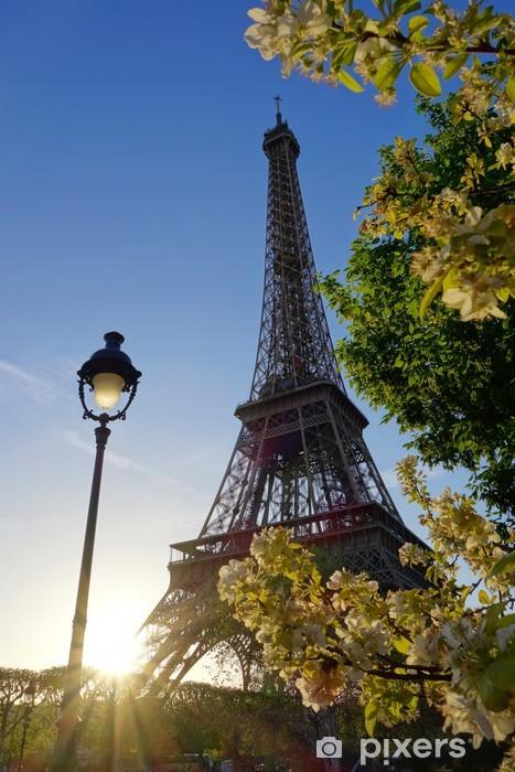 Nálepka Pixerstick Eiffelova věž během jara v Paříži, Francie - Evropská města