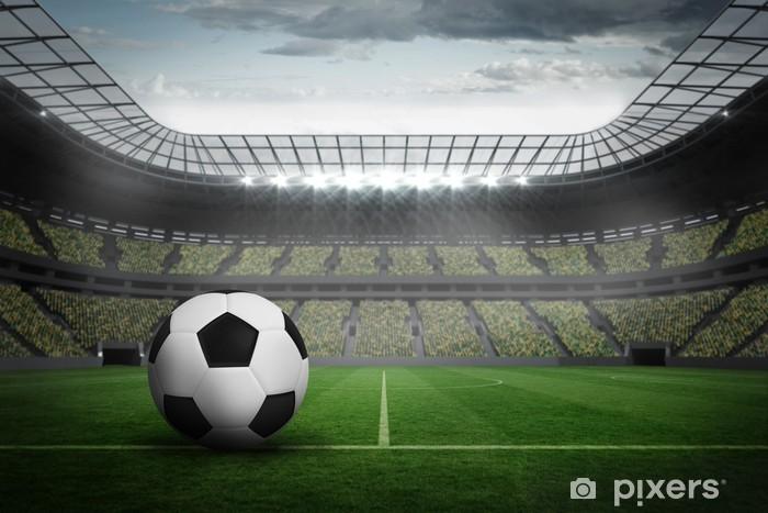 Fototapeta winylowa Composite obraz czarno-biały skóry futbolu - Mecze i zawody