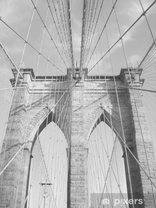 Nálepka Pixerstick Brooklyn bridge - Brooklynský Most
