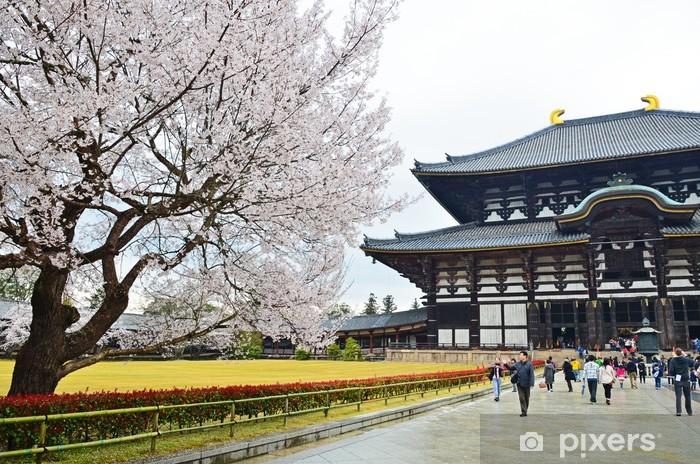 Papier peint vinyle Sakura et Temple Todaiji - Asie