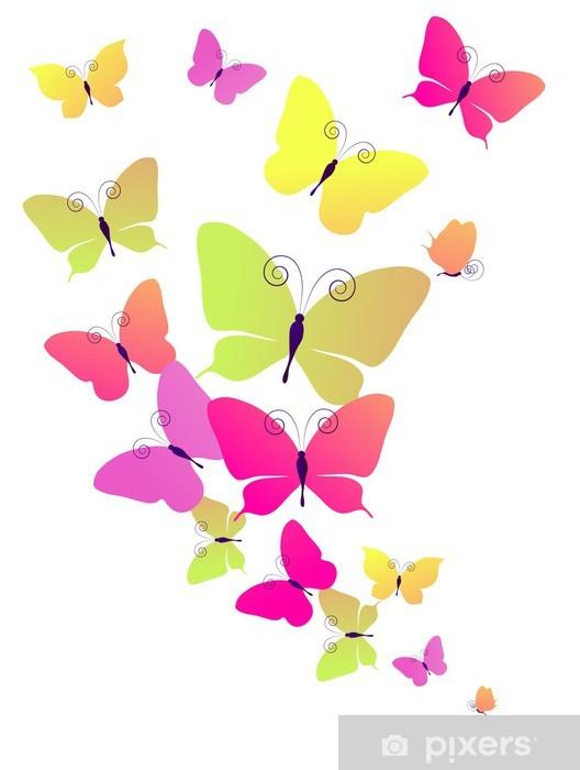 Naklejka Pixerstick Motyle projekt - Tła