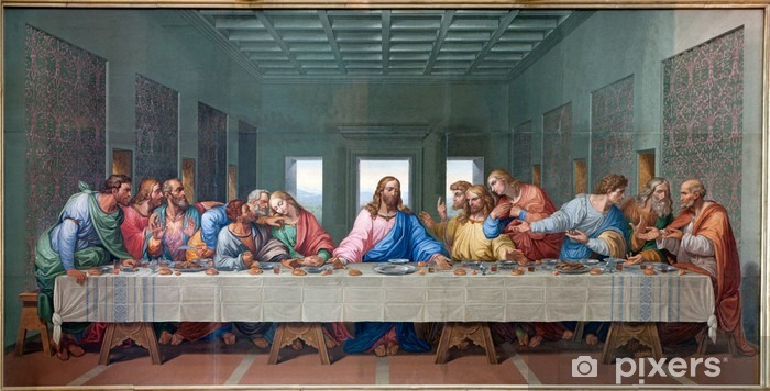 Vienna - Mosaic of Last supper - copy Leonardo da Vinci Washable Wall Mural - Themes