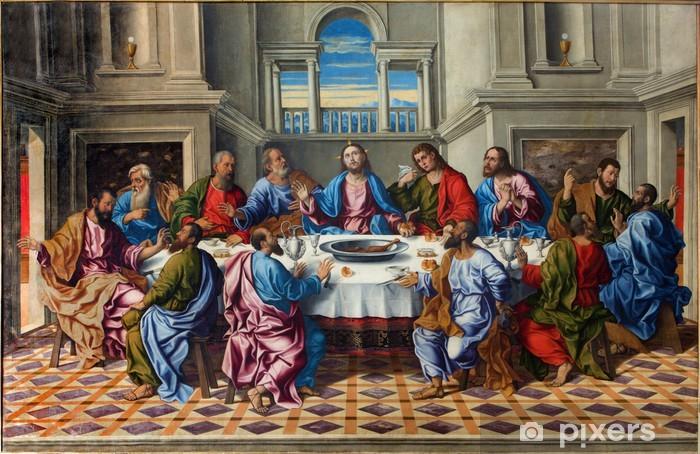 Pixerstick Sticker Venetië - Laatste avondmaal van Christus door Girolamo da Santacroce - Thema's