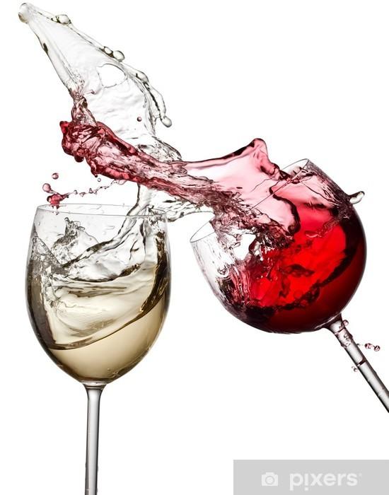 Fotomural Estándar Vino blanco rojo y hasta - Vinilo para pared