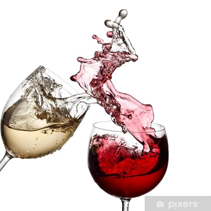Fototapeta winylowa Czerwone i białe wino razem - Naklejki na ścianę
